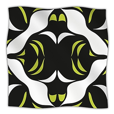 KESS InHouse Green White Jaws Throw Blanket; 40'' L x 30'' W