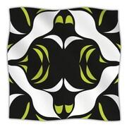KESS InHouse Green White Jaws Throw Blanket; 60'' L x 50'' W