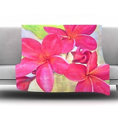 KESS InHouse Plumeria by Sylvia Cook Fleece Throw Blanket; 40'' H x 30'' W x 1'' D