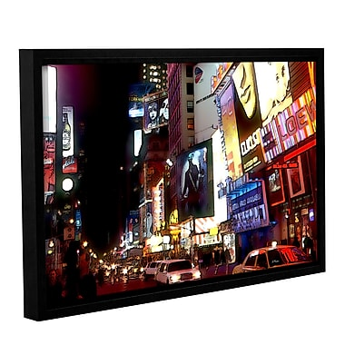 ArtWall Nyc Bright Lights Broadway by Linda Parker Framed Painting Print; 24'' H x 36'' W