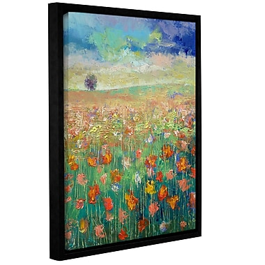 ArtWall Dancing Poppies by Michael Creese Framed Painting Print; 24'' H x 32'' W