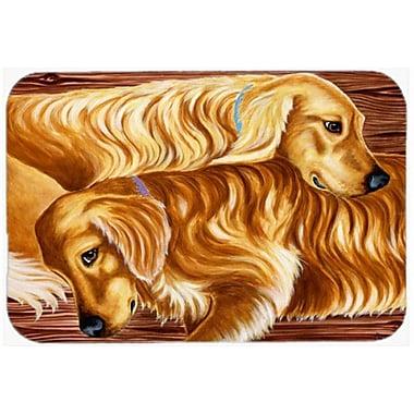 Caroline's Treasures Zeus and Chloie the Golden Retrievers Glass Cutting Board