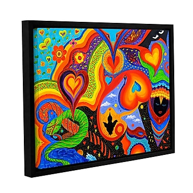ArtWall Hearts by Marina Petro Framed Painting Print on Wrapped Canvas; 24'' H x 32'' W