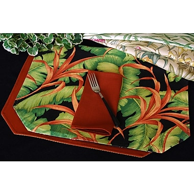 Pacific Table Linens Outdoor Table Linen Reversible Placemat (Set of 2); Botanica Sand Cafe