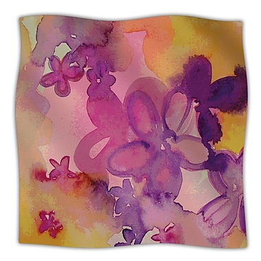 KESS InHouse Dissolved Flowers Throw Blanket; 60'' L x 50'' W