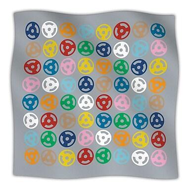 KESS InHouse Roll w/ It On Grey Throw Blanket; 40'' L x 30'' W