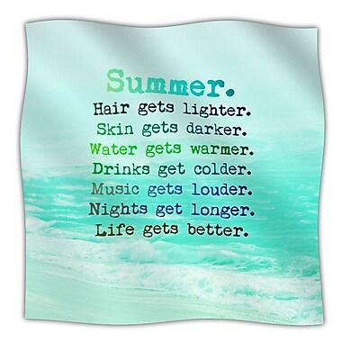 KESS InHouse Summer XXL Throw Blanket; 60'' L x 50'' W