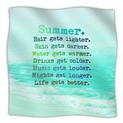 KESS InHouse Summer XXL Throw Blanket; 40'' L x 30'' W