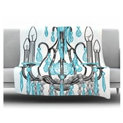 KESS InHouse Chandelier by Sam Posnick Fleece Throw Blanket; 40'' H x 30'' W x 1'' D