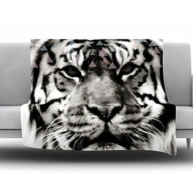 KESS InHouse Tiger Face by Suzanne Carter Fleece Throw Blanket; 60'' H x 50'' W x 1'' D
