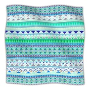 KESS InHouse Emerald Chenoa Fleece Throw Blanket; 80'' L x 60'' W