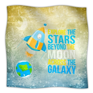 KESS InHouse Explore The Stars Throw Blanket; 40'' L x 30'' W