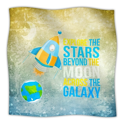 KESS InHouse Explore The Stars Throw Blanket; 80'' L x 60'' W
