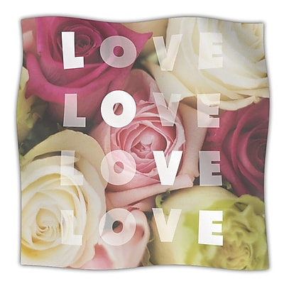 KESS InHouse Love Love Love Throw Blanket; 80'' L x 60'' W