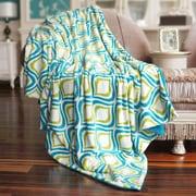 BOON Throw & Blanket Mystique Flannel Throw Blanket; Light Blue