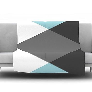 KESS InHouse Diamonds by Suzanne CarterFleece Throw Blanket; 60'' H x 50'' W x 1'' D
