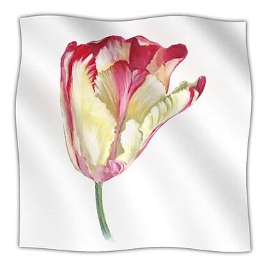 KESS InHouse Red Tip Tulip Throw Blanket; 40'' L x 30'' W