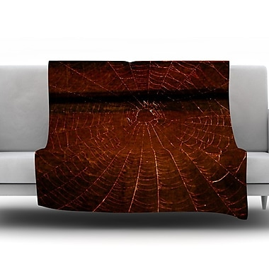 KESS InHouse Dark Web by Robin Dickinson Fleece Throw Blanket; 80'' H x 60'' W x 1'' D