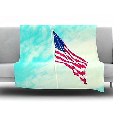 KESS InHouse USA Colors by Robin Dickinson Fleece Throw Blanket; 40'' H x 30'' W x 1'' D