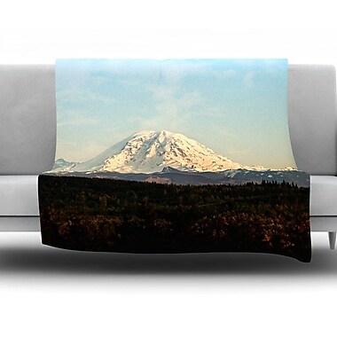 KESS InHouse Mt. Rainier by Sylvia Cook Fleece Throw Blanket; 40'' H x 30'' W x 1'' D