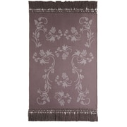 Fibre by Auskin Vines Baby Alpaca Woven Throw; Oyster/Latte