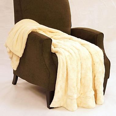 BOON Throw & Blanket Swirl Faux Fur Throw Blanket; Antique White