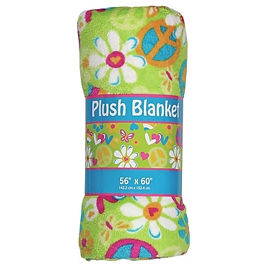 Iscream Flower Power Plush Throw Blanket