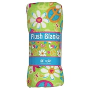 Iscream Flower Power Plush Throw Blanket