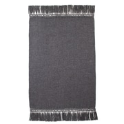 Fibre by Auskin Cool Baby Alpaca Woven Throw; Charcoal