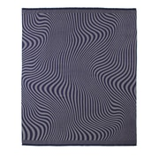 Fibre by Auskin Waves Baby Alpaca Woven Throw; Navy/Taupe