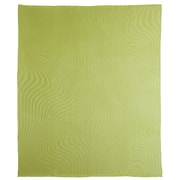 Fibre by Auskin Waves Baby Alpaca Woven Throw; Green Leaf