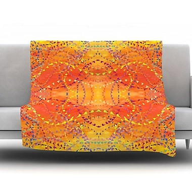 KESS InHouse Sunrise by Nikposium Fleece Throw Blanket; 80'' H x 60'' W x 1'' D