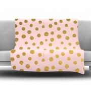 KESS InHouse Golden Dots by Nika Martinez Fleece Throw Blanket; 60'' H x 50'' W x 1'' D