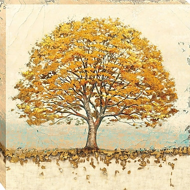 Tangletown Fine Art Golden Oak by James Wiens Framed Painting Print on Wrapped Canvas