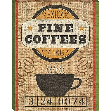 Tangletown Fine Art Coffee Sack III by Pela Studio Framed Vintage Advertisement on Wrapped Canvas