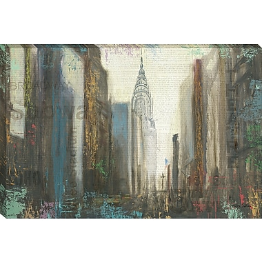Tangletown Fine Art Urban Movement I NY by Myles Sullivan Framed Graphic Art on Wrapped Canvas