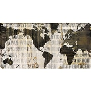 Tangletown Fine Art Crate World Map Neutral by Sue Schlabach Framed Graphic Art on Wrapped Canvas