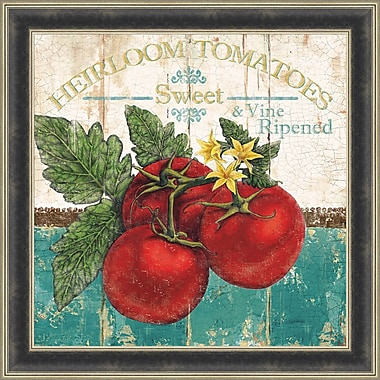 Tangletown Fine Art Heirloom Tomatoes by Marie Elaine Cusson Framed Vintage Advertisement