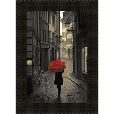 Tangletown Fine Art Red Rain by Stefano Corso Framed Photographic Print