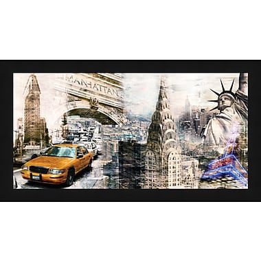 Tangletown Fine Art Downtown New York by Bresso Sola Framed Graphic Art