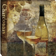 Tangletown Fine Art Wine Chardonnay by Keith Mallett Framed Graphic Art on Wrapped Canvas