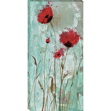 Tangletown Fine Art Splash Poppies II by Catherine Brink Framed Painting Print on Wrapped Canvas