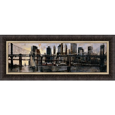 Tangletown Fine Art Down at East River by Marti Bofarull Framed Painting Print