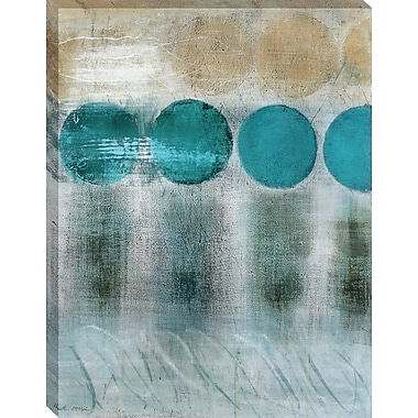 Tangletown Fine Art Blue Moon I by Heather McAlpine Framed Painting Print on Wrapped Canvas