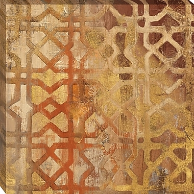 Tangletown Fine Art Gilded Trellis I by Albena Hristova Framed Graphic Art on Wrapped Canvas