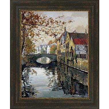 Tangletown Fine Art Brugge Reflections by Robert Schaar Framed Painting Print
