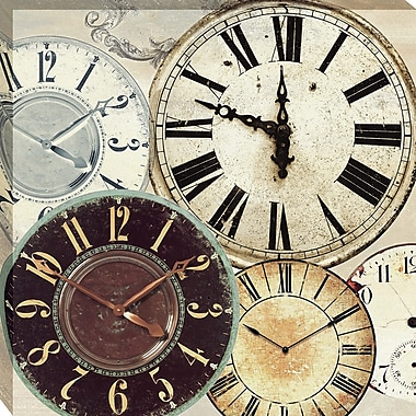 Tangletown Fine Art Timepieces II by Joannoo Framed Graphic Art on Wrapped Canvas