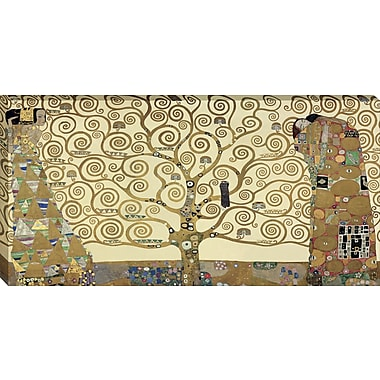Tangletown Fine Art The Tree of Life by Gustav Klimt Framed Graphic Art on Wrapped Canvas
