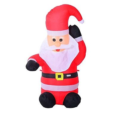 HomCom 4' Indoor/Outdoor LED Inflatable Holiday Christmas Yard Decoration