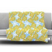 KESS InHouse Flowers Alternate by Nandita Singh Fleece Throw Blanket; 40'' H x 30'' W x .25'' D